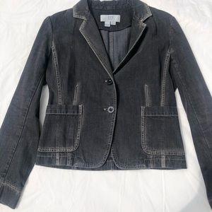 Black-washed Blazer-style Jean Jacket - 6 petite